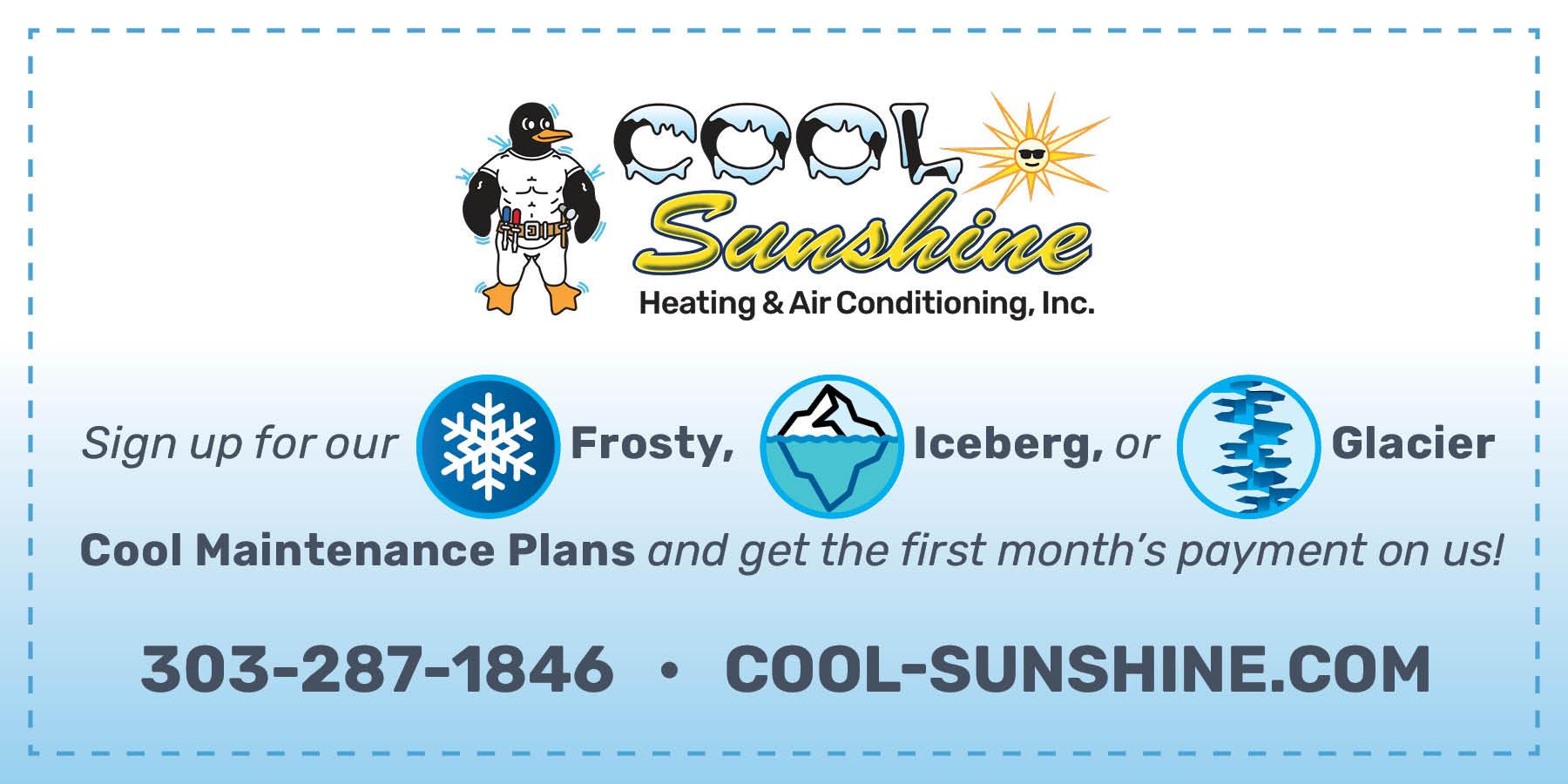 Cool Sunshine Maintenance program Special